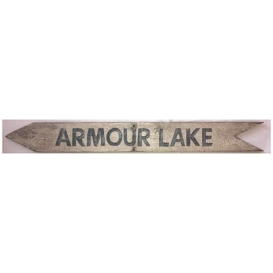 Armour Lake Arrow Sign