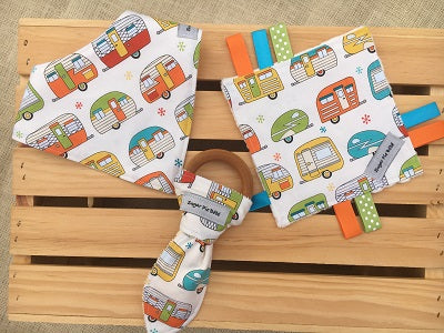 Retro Trailers Baby Gift Set
