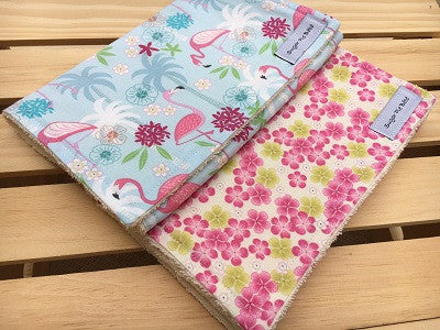 Flamingo Burp Cloth Set