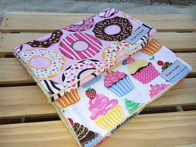 Cupcakes & Donuts Burp Cloth Set