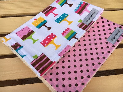 Dessert Burp Cloth Set