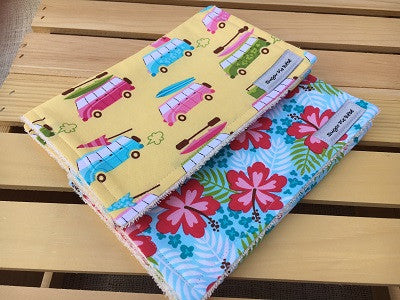 Beachy in Yellow Burp Cloth Set