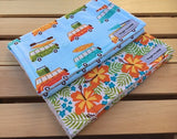 Beachy in Blue Burp Cloth Set