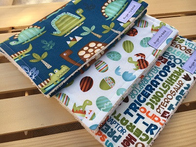 Dinosaur Burp Cloth Set