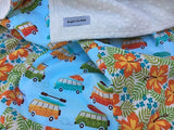 Beachy in Blue Baby Blanket