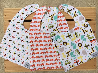 Boys Boys Boys Bib Set