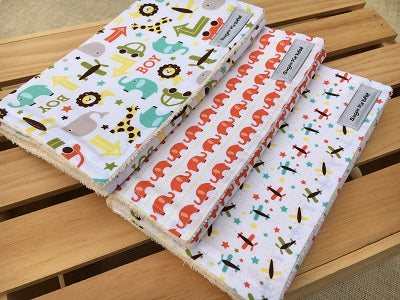 Boys Boys Boys Burp Cloth Set