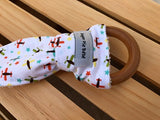 Boys Boys Boys Wooden Teething Ring