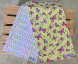 Butterfly Burp Cloth Set