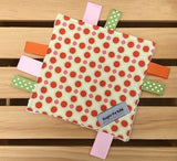 Orange Dot Crinkle Toy