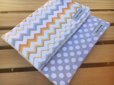 Dots & Chevron Burp Cloth Set