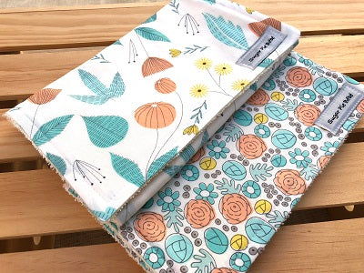 English Garden Burp Cloth Set