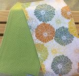 Blooming Flower & Dots Burp Cloth Set