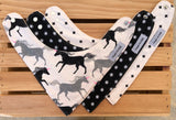 Magic Forest ( Black & Tan) Bandana Drool Bib Set