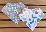 English Garden Bandana Drool Bib Set