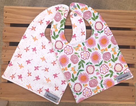 Spring Flowers Bib Set