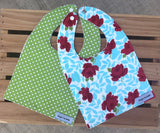 Flowers & Polka Dots Bib Set