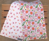 Spring Flowers Burp Cloth Set