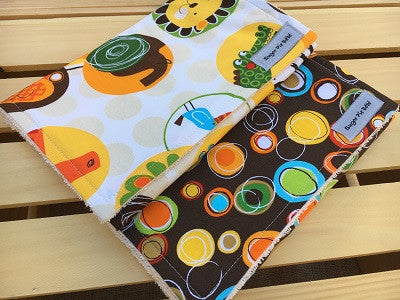 Jungle Creatures Burp Cloth Set