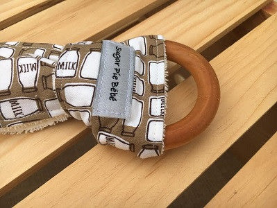 Got Milk Wooden Teething Ring