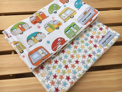 Retro Trailer Burp Cloth Set