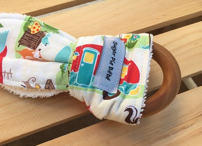 Go Camping Wooden Teething Ring
