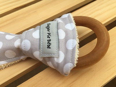 Dots Wooden Teething Ring