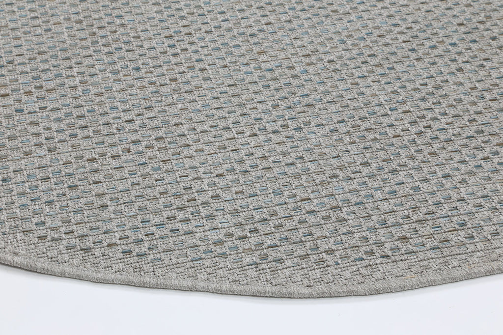 Sienna Silver Blue Indoor Outdoor Rug Round