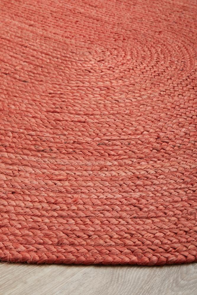Bond Terracotta Oval Rug