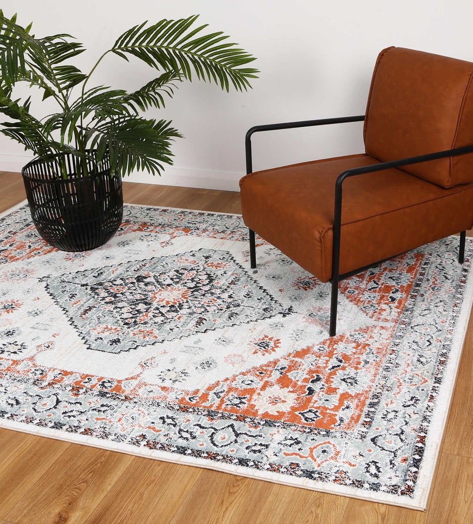 Esther Traditional Cream Terracotta Rug
