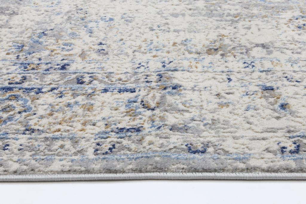 Express Navy Blue Contemporary Rug
