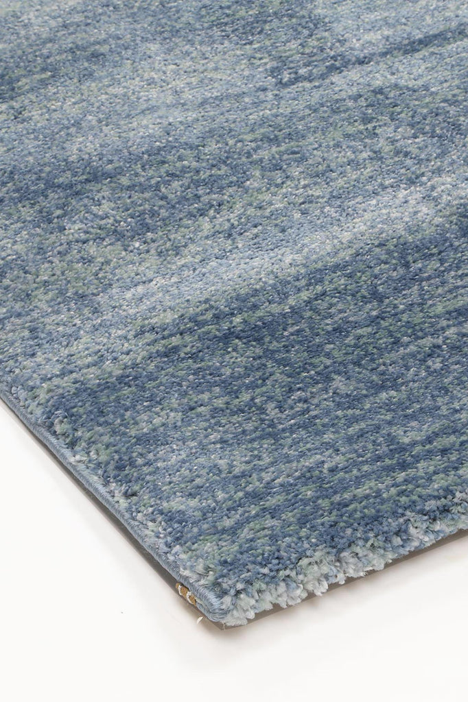 Pia Solid Blue Modern Rug