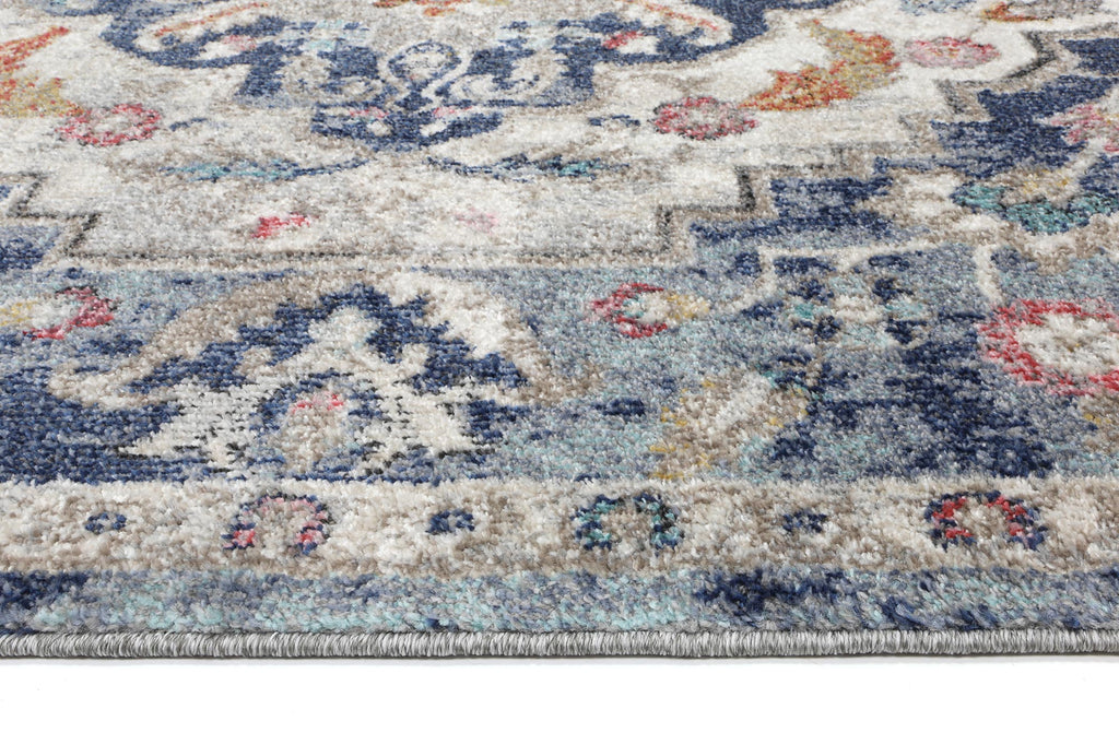Salsa Transitional Navy Multi Rug