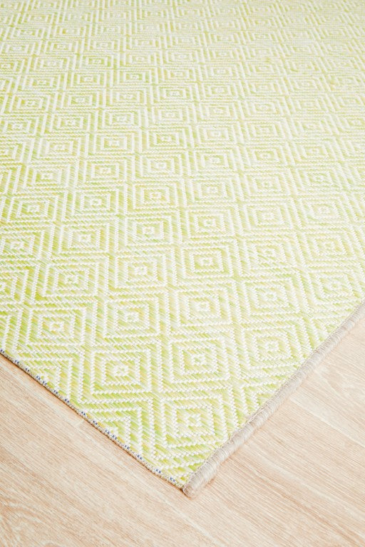 Terri Clara Diamond Rug Lime Green 5500