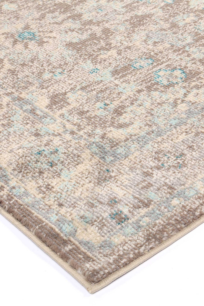 Tilly Grey/Sky Blue Floral Rug