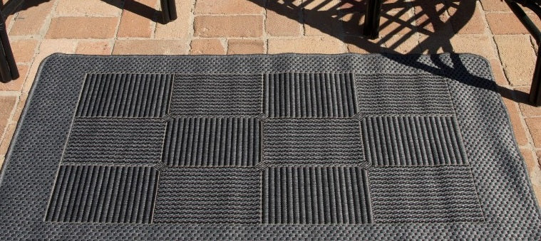 Duva Indoor Outdoor Rug 22 Black Grey