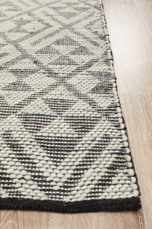 Rhythm 731 Denim Wool Flatweave Rug