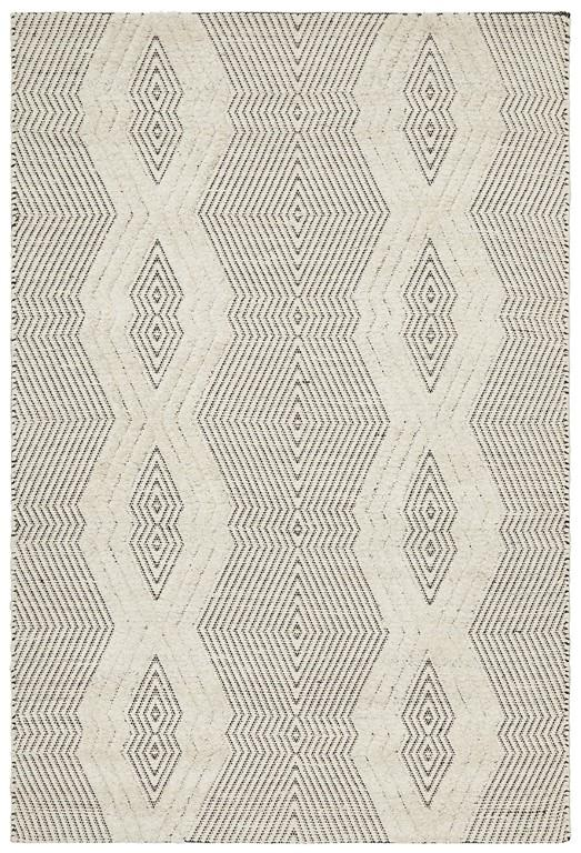 Rhythm 741 Bone Cream Wool Flatweave Rug