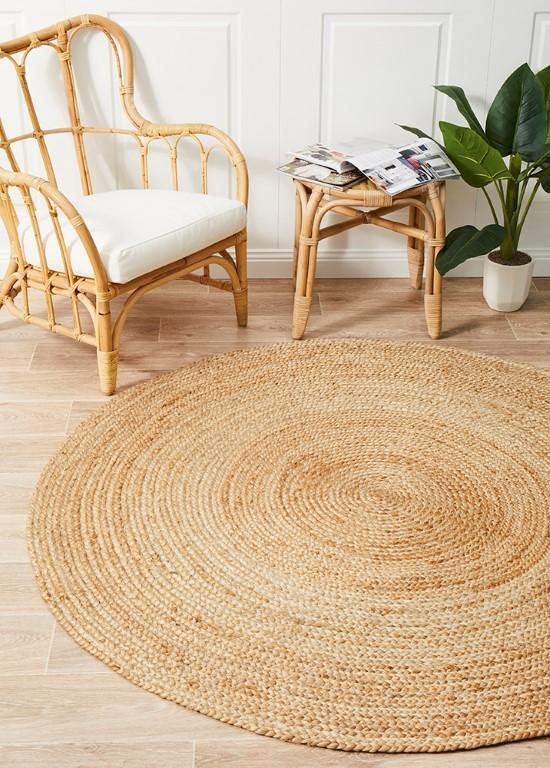 Rugs - Alison Round Polo Natural Jute Organic Rug