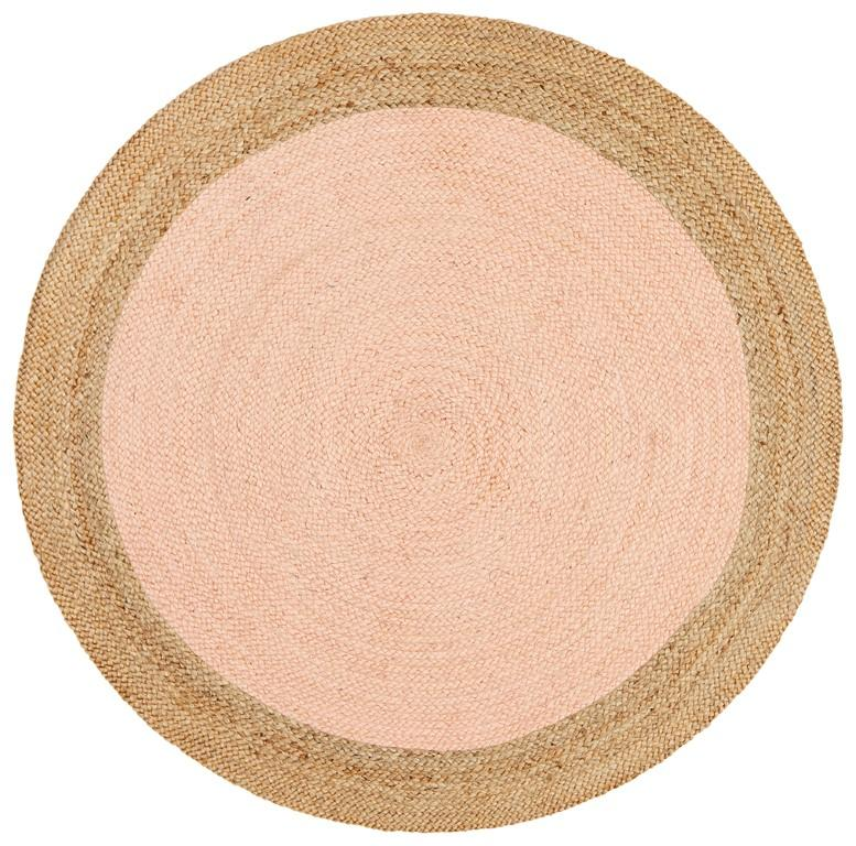 Rugs - Alison Round Polo Pink Jute Organic Rug