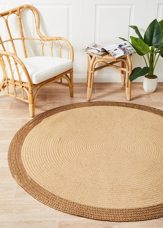 Rugs - Alison Round Wish Copper Natural Jute Organic Rug