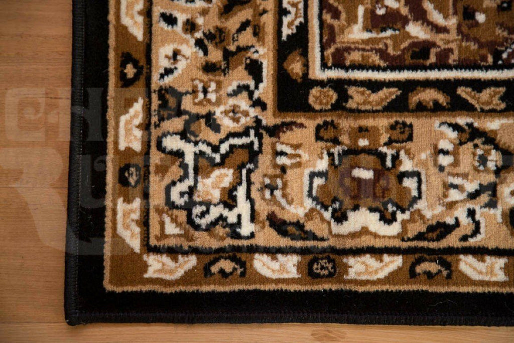 Rugs - Ally 17135 Black Traditional Rug