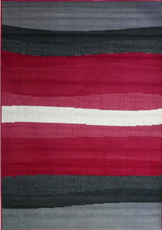 Rugs - Ally 43541 Red Grey Modern Rug