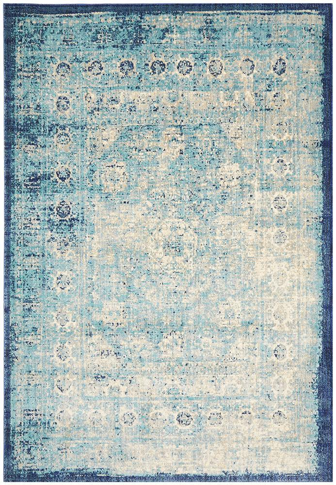 Rugs - Anne 261 Blue Cream Modern Rug