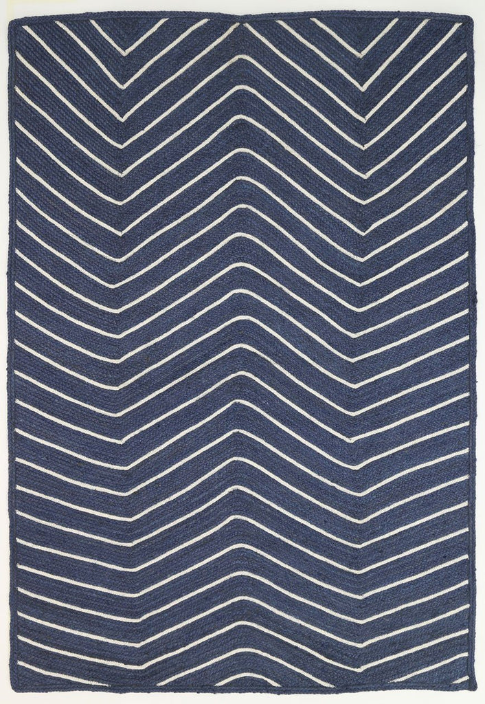 Rugs - Artisan Natural Chevron Navy Rug