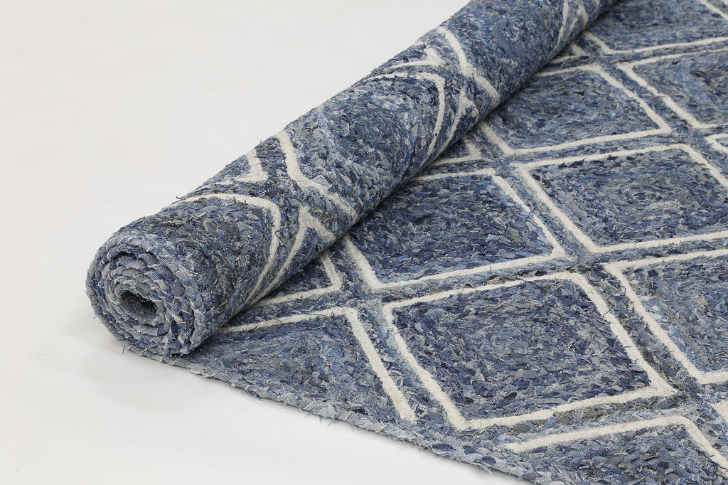 Rugs - Artisan Natural Parquetry Denim Rug