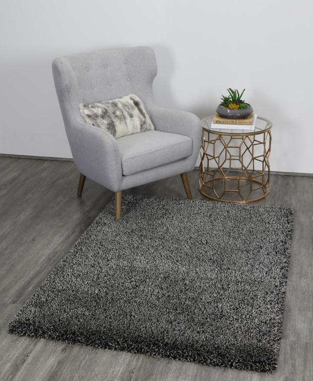 Rugs - Austin Plush Charcoal/Anthracite Shaggy Rug