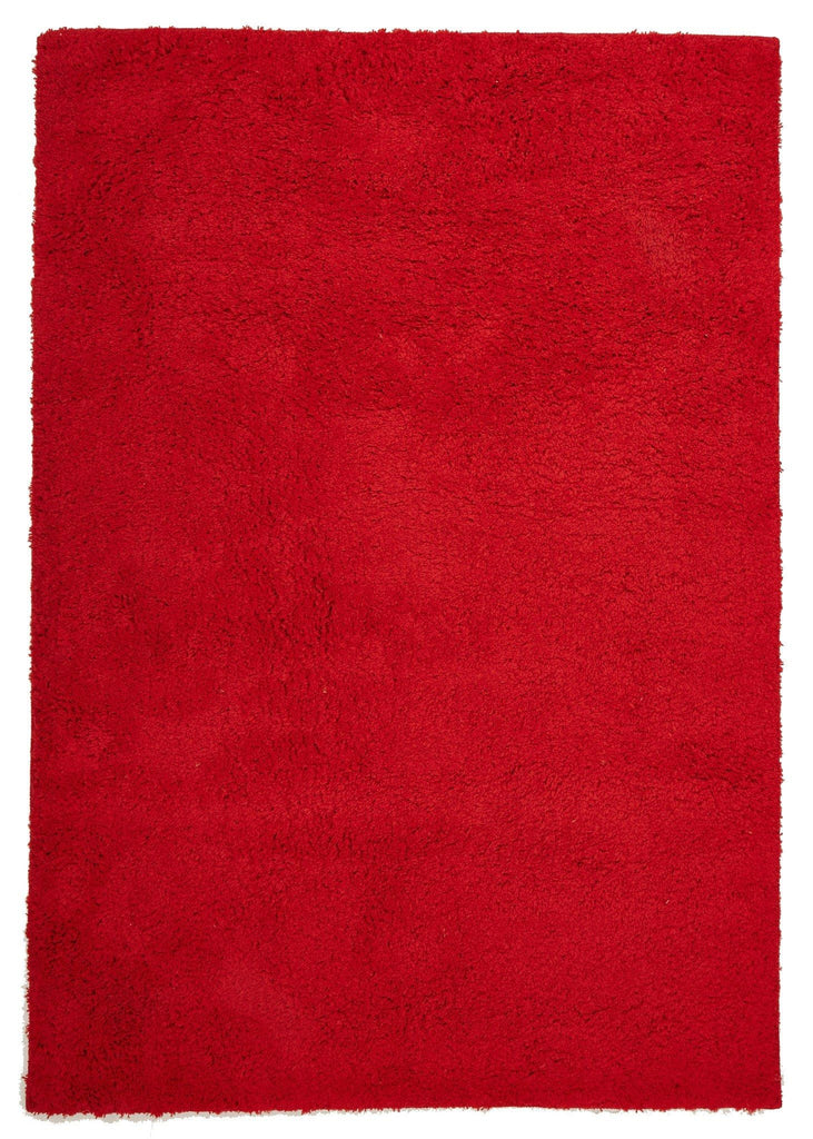 Rugs - Bella Red Shaggy Rug