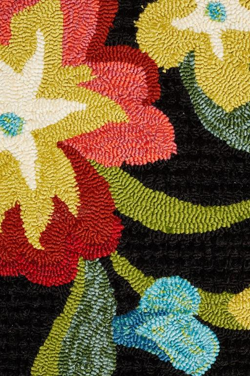 Copa 592 black floral indoor outdoor rug rugtastic - Tips to consider when buying an outdoor rug ...