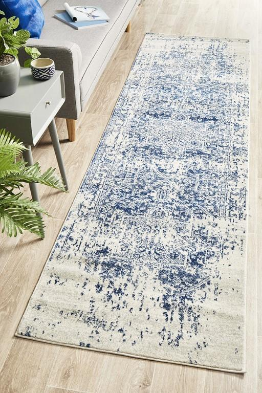 Rugs - Eliza 253 White Cream Navy Modern Rug